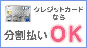 クレジットカード払いなら手数料無料