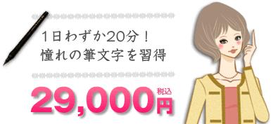1日20分!憧れの筆文字を習得 29,000円