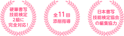 硬筆書写技能検定2級に完全対応! 全11回添削指導 日本書写技能検定協会の編集協力